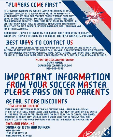 Soccer Master Letter 2015